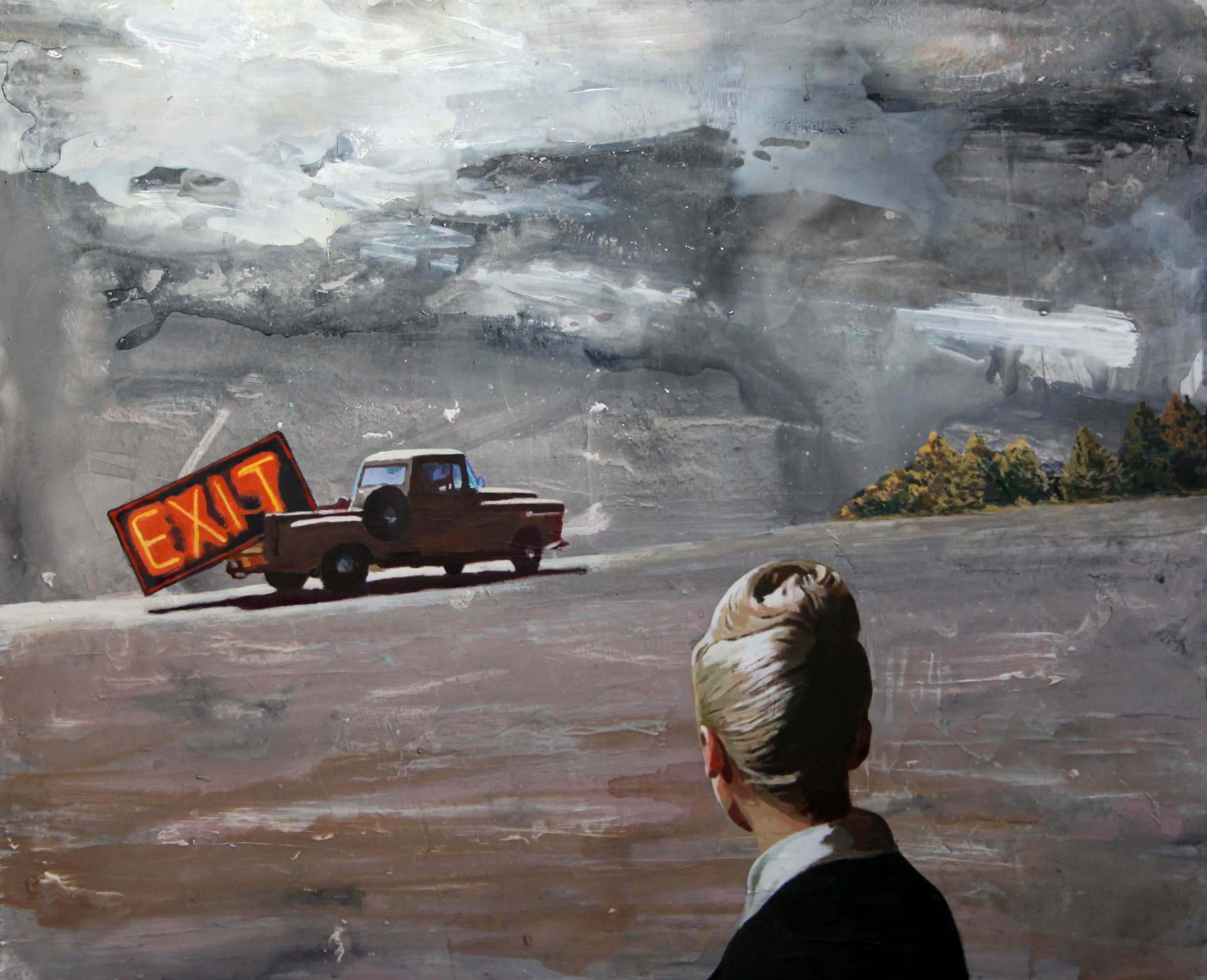 Exit. 100x122 cm