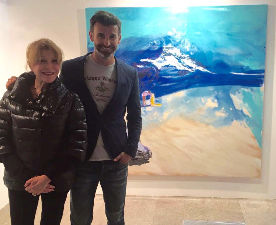 Con la Baronesa Thyssen en JustMad7