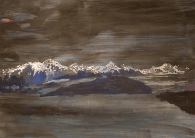 Glaciar de Grey. 140x100 cm. Acrílico y esmalte sobre papel