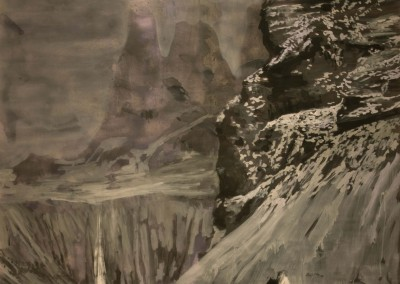Into the thin air. 140x150 cm. Acrílico y esmalte sobre papel