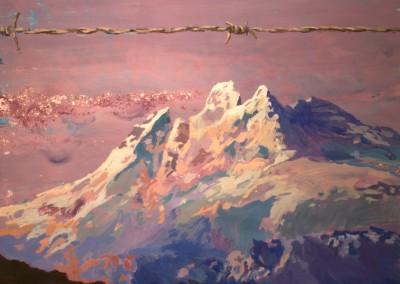 The call of the wild. 140x100 cm. Acrílico y esmalte sobre papel