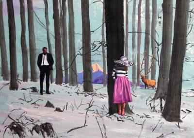 'Tiempo de silencio'. 110x130 cm. Acrílico y resina sobre tabla. 2016
