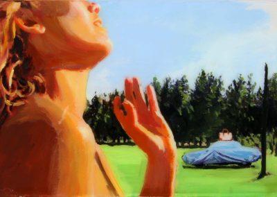 'Carpe diem'. 20x30 cm. Acrylic and resin on canvas